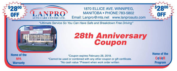 28 Year Anniversary Special Coupon