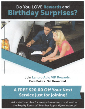 Click here to join our VIP Rewards Program and get $20 OFF your next service