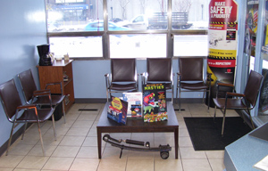 Lanpro Auto Care Centre Ltd. Customer Waiting Area | 1870 Ellice Ave | Winnipeg, Manitoba | 204-783-5802